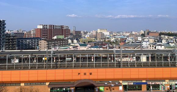 T-FRONTEの屋上からの眺め