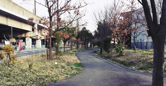 埼京線の横の小道