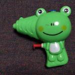 カエルの水鉄砲