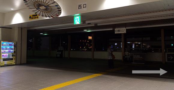 戸田公園駅西口を右方面へ