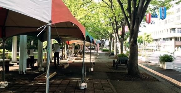 開催2日前の様子(市役所通り)