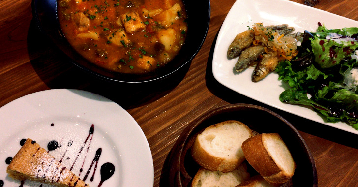 スペイン料理オルグージョのランチメニュー