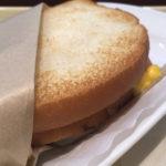 朝カフェ・セットB 3種のチーズとベーコン・エッグ