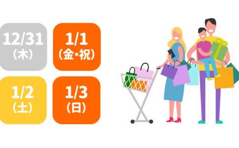 スーパーマーケットの年末年始営業状況